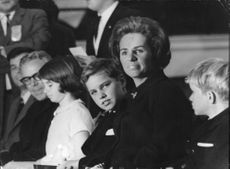 "Robert Francis ""Bobby"" Kennedy family looking."