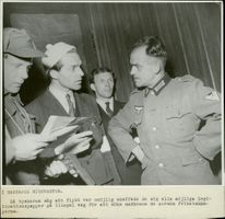 IN GESTAPOS Headquarters during Peace 1945