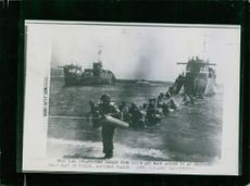 Soldiers going to the sea shore.