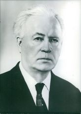 Vintage photo of the President of Iceland, Asgeir Asgeirsson. 1974.
