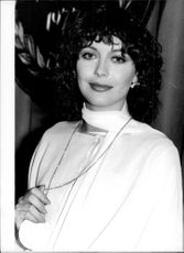 "Lesley-Anne Down was awarded a prize for ""Best Newcomer"" at the Evening News British Film Awards in London"