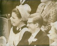Princess Margriet of the Netherlands and husband Pieter van Vollenhoven laughing together.