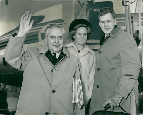Harold Wilson with his wife and son giles.