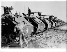 American armored vehicles wrecked
