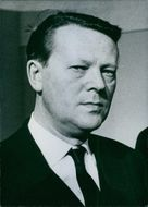 Portrait of a Danish Minister for Foreign Affairs since 1958 Jens Otto Krag. 1962