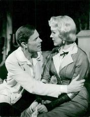 "Olof Widgren and Eva Dahlbeck in ""Playing with the Fire"" on the drama's small scene"