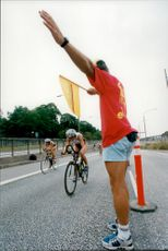 From the cycling moment during the Triathlon EM in Stockholm