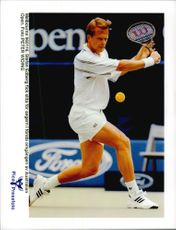 Stefan Edberg tennis player plays in the Australian Open