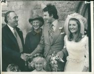 Viscount William Whitelaw during his daughter's marriage ceremony