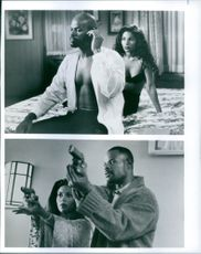 """Keenen Ivory Wayans and Salli Richardson together in the movie, """"A Low Down Dirty Shame""""."""