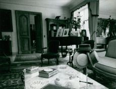 Living room of Maurice Chevalier.