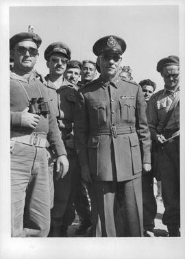 Lieutenant Major General Mohammed Fuad A'Dajawi, Commandoer of Gaza Strip forces with Israel officers surrender of his forces to Israel. He beheaded the Court martial that sentenced two Egyptian Jews to death and many others to jail.