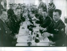 "Soldiers celebrating during Camerone Day.  ""Camerone""  1962"