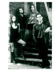 """Matt Dillon along with actresses in the movie """"Drugstore Cowboy""""."""