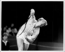 Boris Becker during the Benson & Hedges Championships at Wembley.