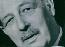 Cropped photograph of Prime Minister of Great Britain Maurice Harold Macmillan.