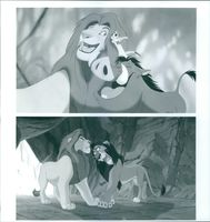 """Scenes from the film """"The Lion King"""", 1994."""