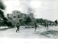 Grenade attack in an area