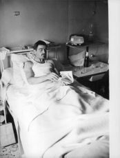 A soldier in hospital bed during the Algerian War.