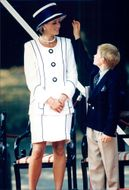Princess Diana together with Prince Harry