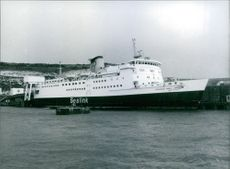 """The """"Princess Marie Christine"""" cross channel ferry on the Port."""