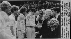 The Swedish tennis team will be congratulated by Queen Ingrid after winning during the Davis Cup