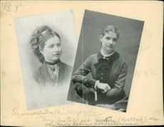 Youth portrait at August Strindberg's sisters, Anna and Nora.