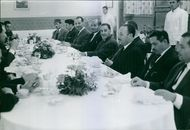 1962 Tripolis Remlig middaj for G.P.R.A (Secret Dinner for G.P.R.A)  Dignitaries gathered in a dinner for G.P.R.A.