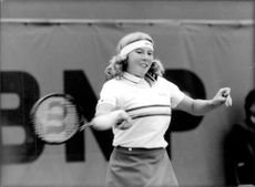 Andrea Jaeger in action during Wimbledon 1983