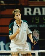 Tennis player Stefan Edberg plays at Stockholm Open