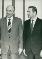 Mikhail gorbachev and messner.