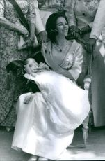 Princess Alexia of Greece and Denmark while carrying her baby, 1965.
