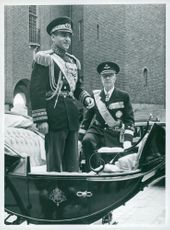 Shanen of Persia Mohammad Reza Pahlavi, State Visit in Stockholm, May 1960
