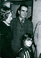 Georges Marchais with his wife Paulette and their son Olivier. 1977