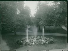 Oskarshamn. Party from the Park with fountain