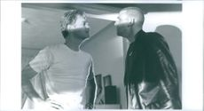 David Caruso and Michael Rapaport have a conversation in Kiss of Death.