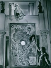 Nils Poppe and Annalisa Ericson in a scene from the film Don't Give Up, 1947.
