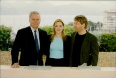 Charlton Heston, Kate Winslet and Kenneth Branagh at the Cannes Film Festival.