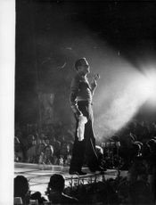 Harry Belafonte performing on stage.