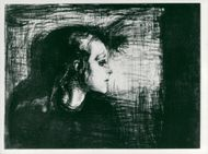 """Picture of Edvard Munch's """"The Sick Girl"""""""
