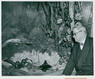 Edward Hallstrom at a newly established booth at the National Museum
