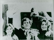 Presidential candidate Gary Hart with spouse Lee