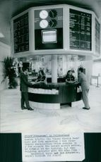 """First """"Borsorama"""" in Switzerland Zurich September 9, 1971 The """"Swiss Credit Bank"""" here put into operation a new electronic installation which returns in a few seconds the newest market prices."""