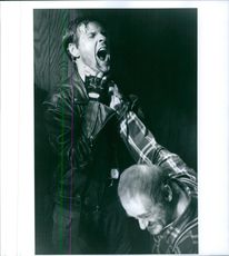 """William Sadler and Dick Miller in a scene from """"Demon Knight""""."""