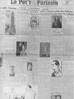 A newspaper with a story about Henri Charriere.