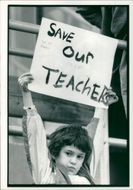 Schools 1988:Save our teacher.