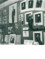 Maurice Chevalier tribute wall