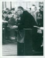 Britain's Prime Minister Sir Alec Douglas-Home in Westminster Cathedral