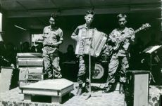 A band composed of soldiers are performing in Saigon. November 10, 1972