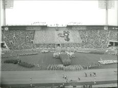 OS in Moscow 1980. The opening ceremony in Lenin Stadium